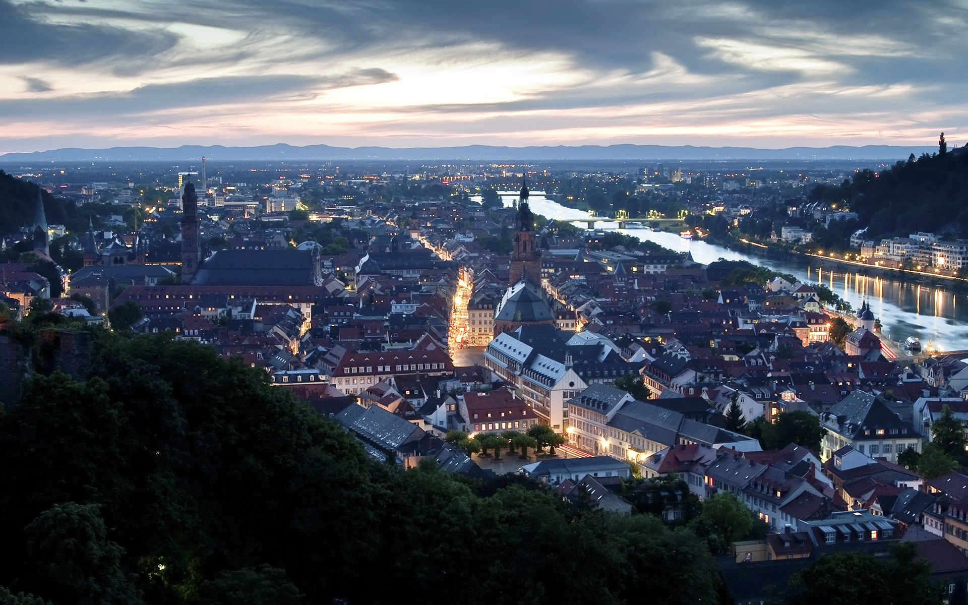 cityscapes Germany Heidelberg wallpaper background 1920x1200