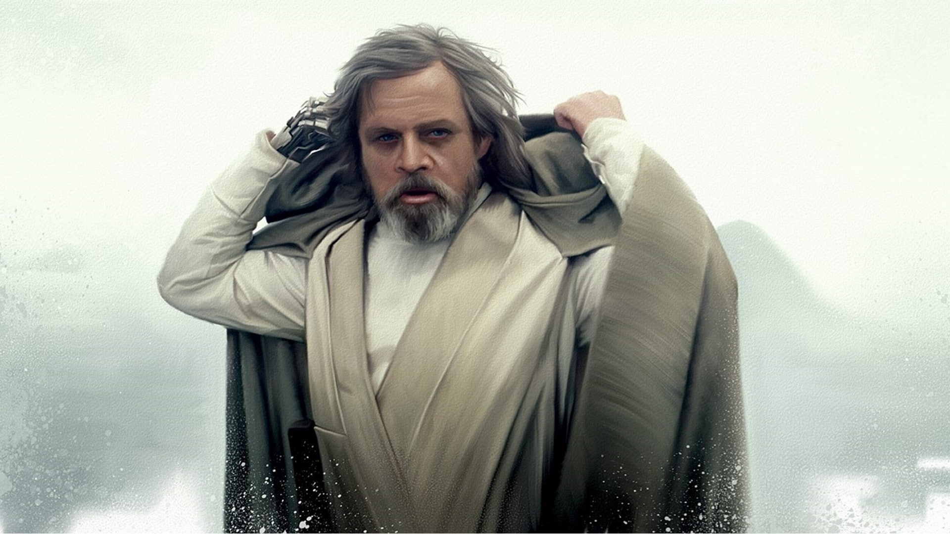 HD wallpaper mens gray robe Star Wars Jedi Mark Hamill Luke 1920x1080