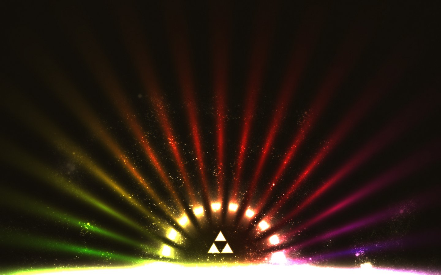 Free Download Multicolor Triforce The Legend Of Zelda Wallpaper