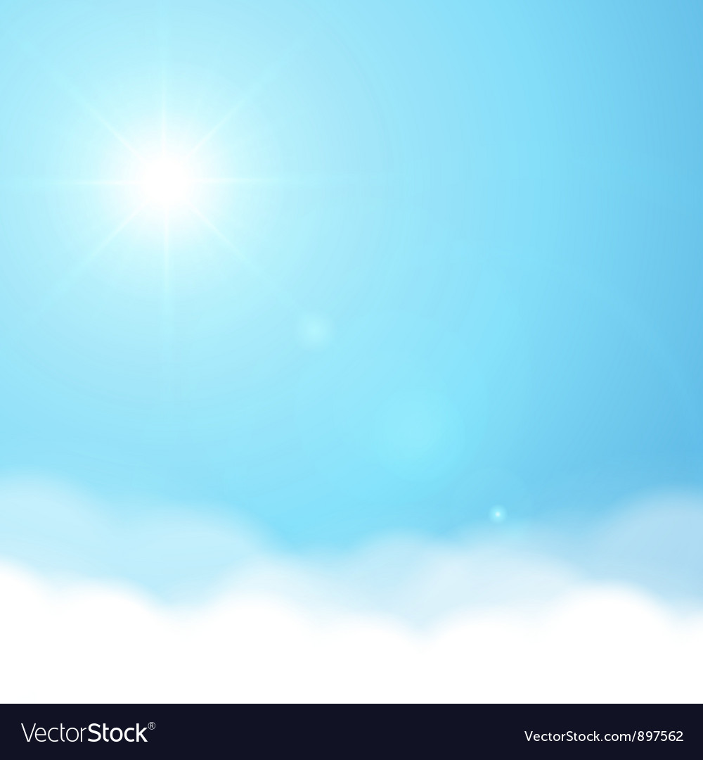 Sun and sky background Royalty Vector Image 1000x1080