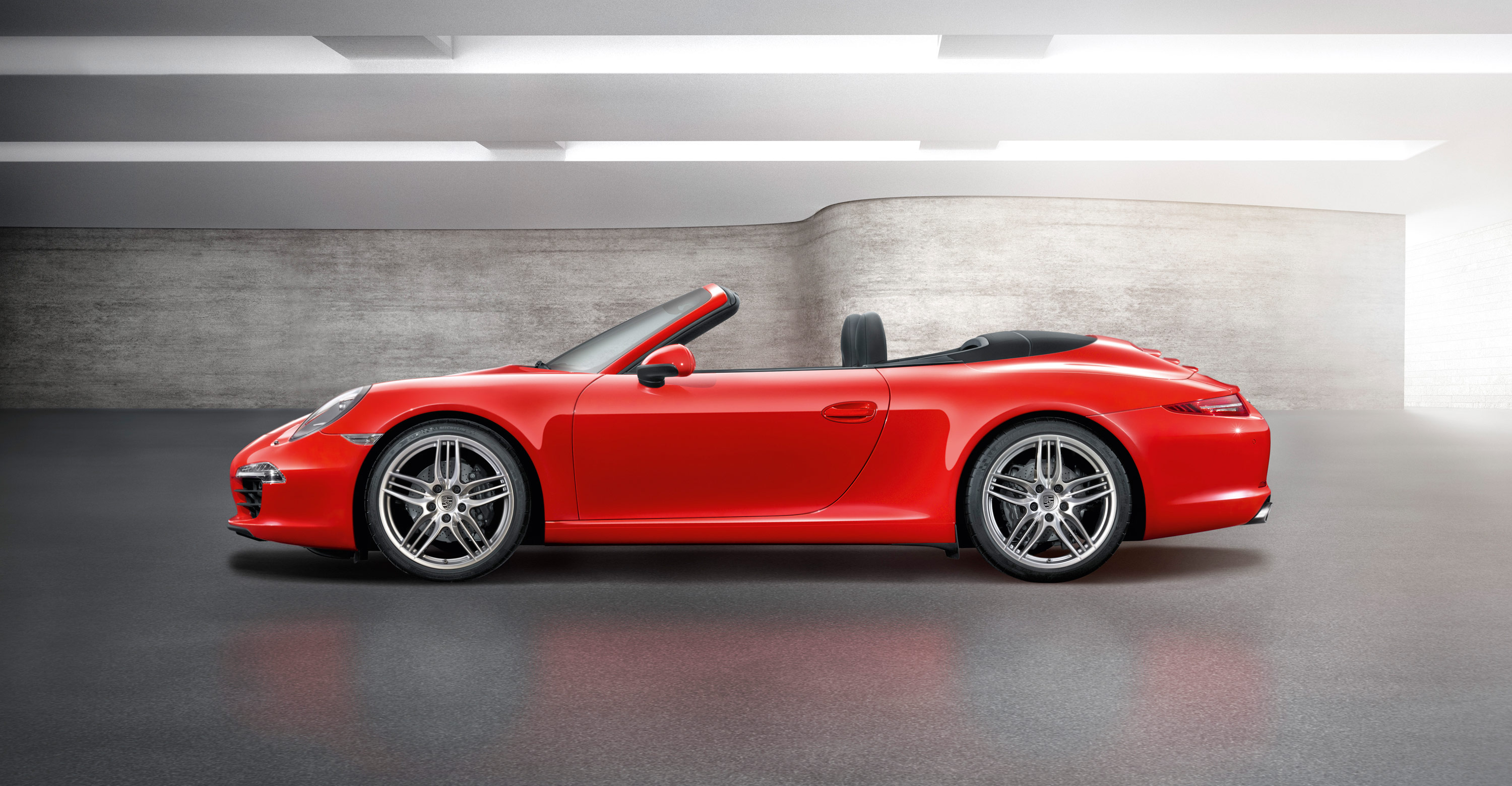 2012 Red Porsche 911 Carrera cabriolet wallpapers 3000x1560