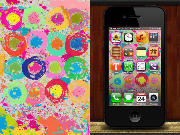 40 Creative iPhone Wallpapers To Make Your Apps Look Good   Hongkiat 600x450