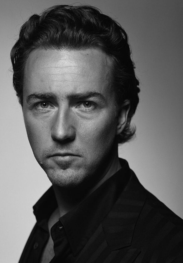 Edward Norton Famous Faces men in 2019 Edward norton Black 626x901
