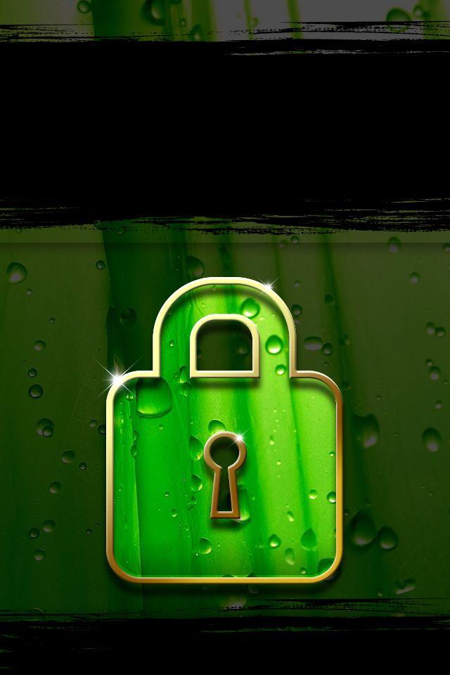 Green iPhone 4 lock screen iphone wallpapers 2 Lock Screens Backgro 640x960