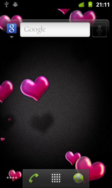 Hearts Live Wallpaper 10 FREE 360x600