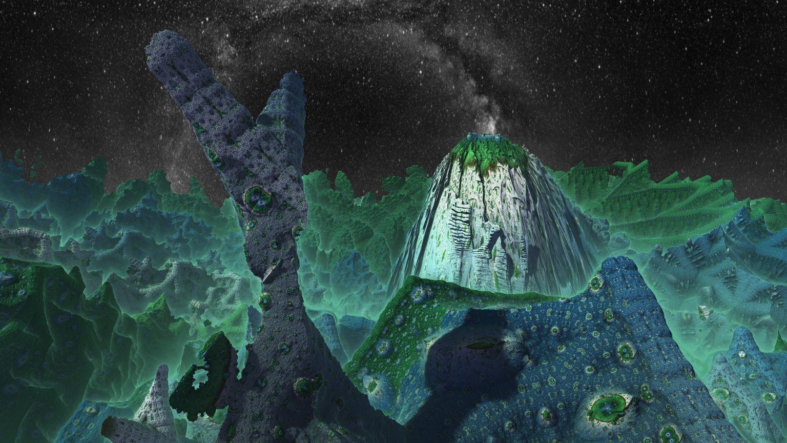 Dark Alien World wallpaper in 1536x864 resolution 1536x864