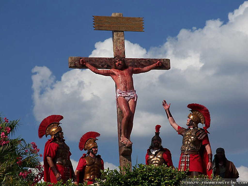 easter jesus on the cross   Large Images 1024x768