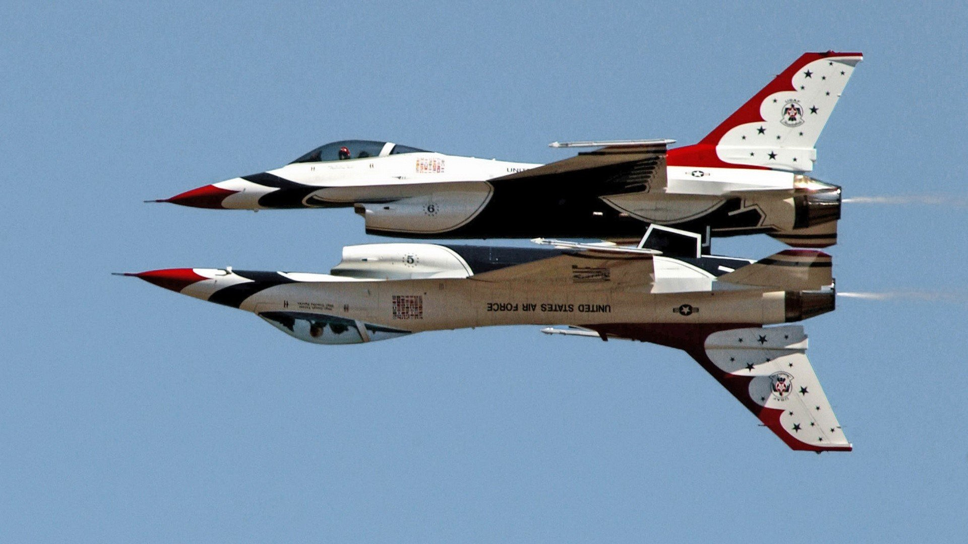 fighting United States Air Force F 16 Fighting Falcon Thunderbirds 1920x1080