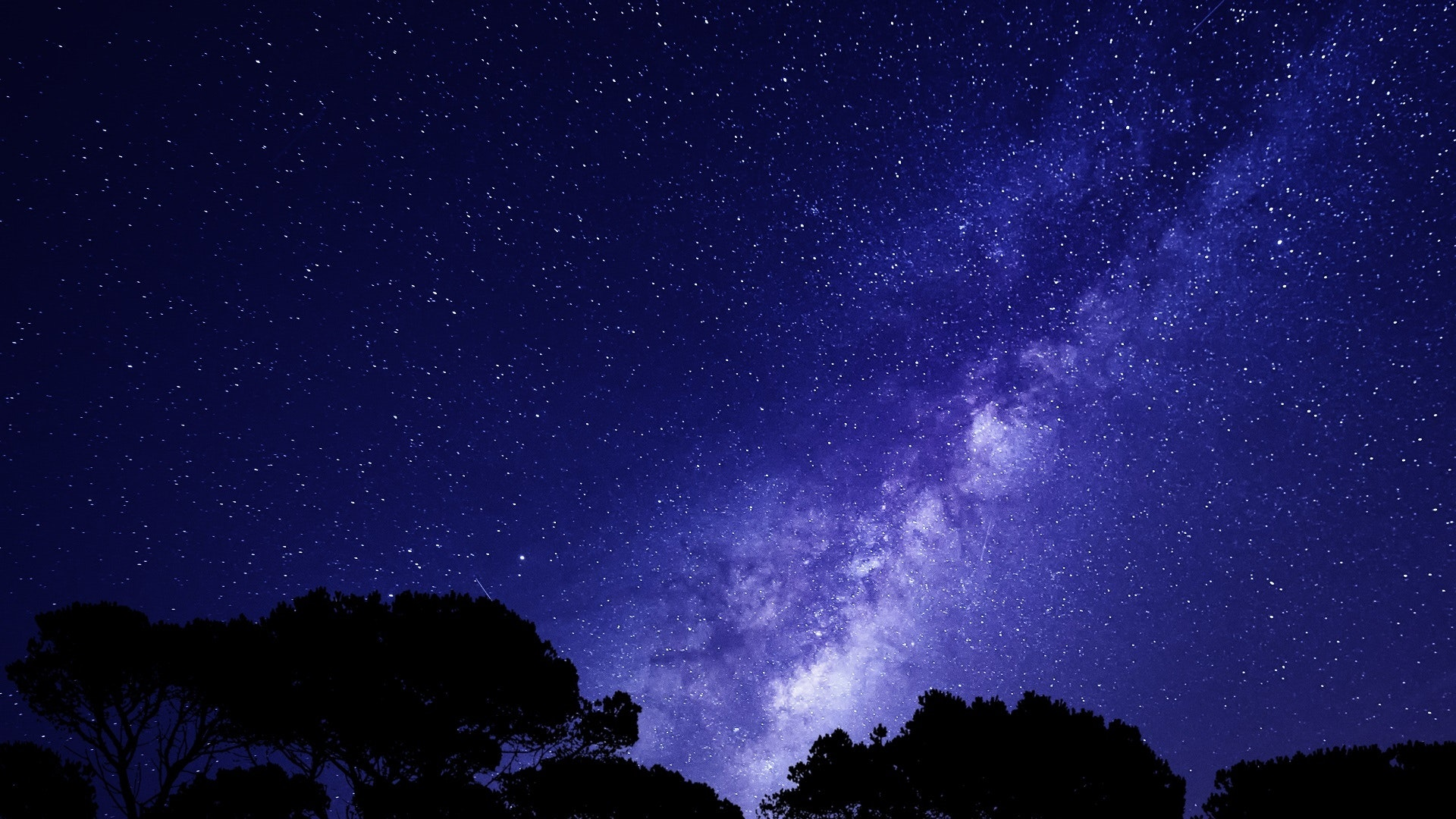 Starry Night Sky Wallpaper 4k   1920x1080   Download HD Wallpaper