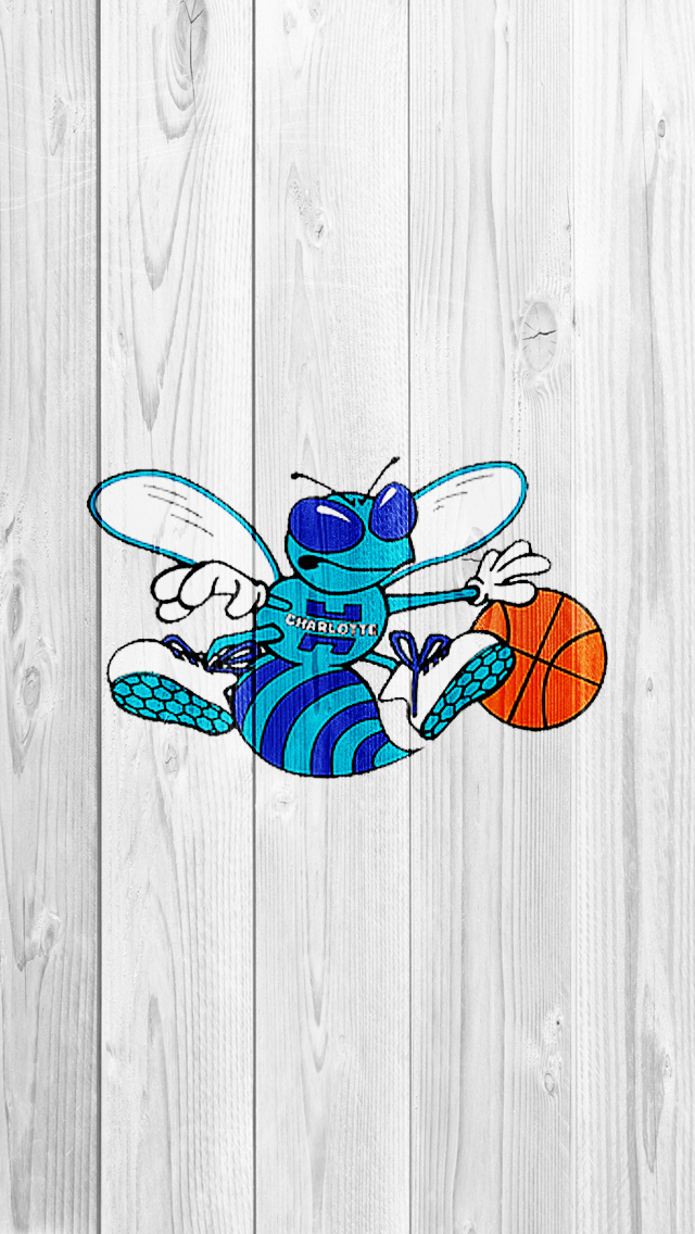 Download Charlotte Hornets White iPh iPhone Wood Wallpapers Photo 640x1136