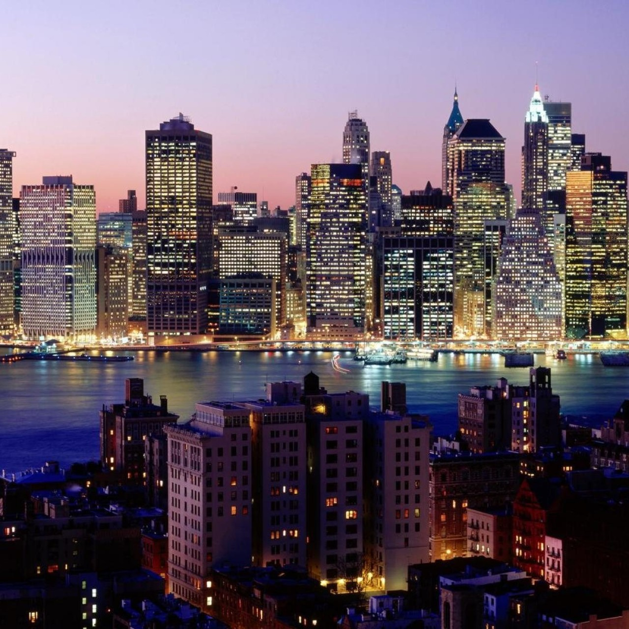 Lighting Nyc: [45+] New York City Lights Wallpaper On WallpaperSafari