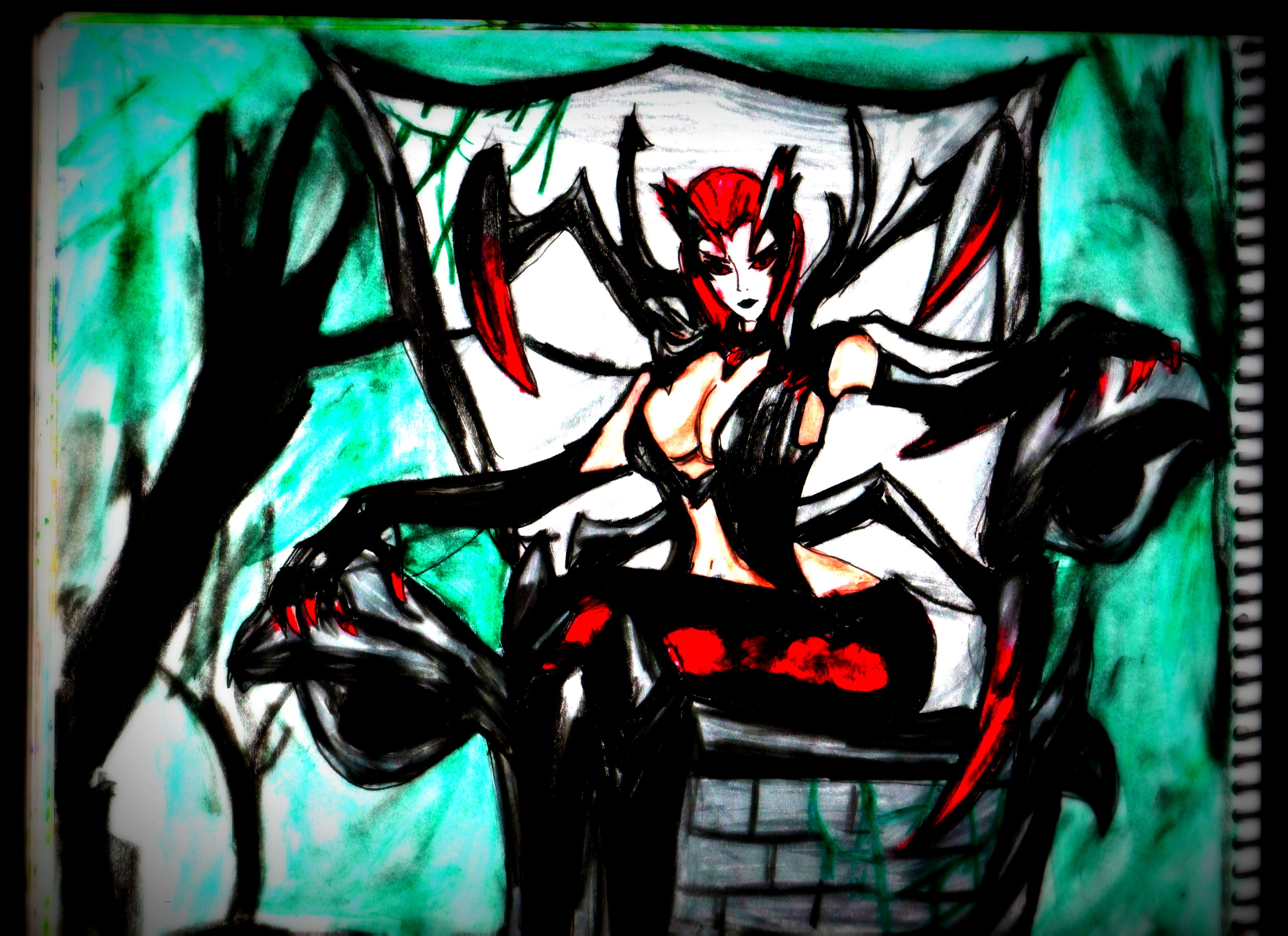 Elise The Spider Queen League of Legends lol by GuillermoAntil on 3179x2309