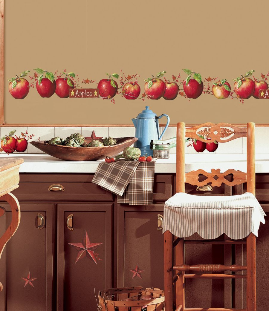 apple kitchen roommates rmk1570scs country apples decals country wall 900x1041