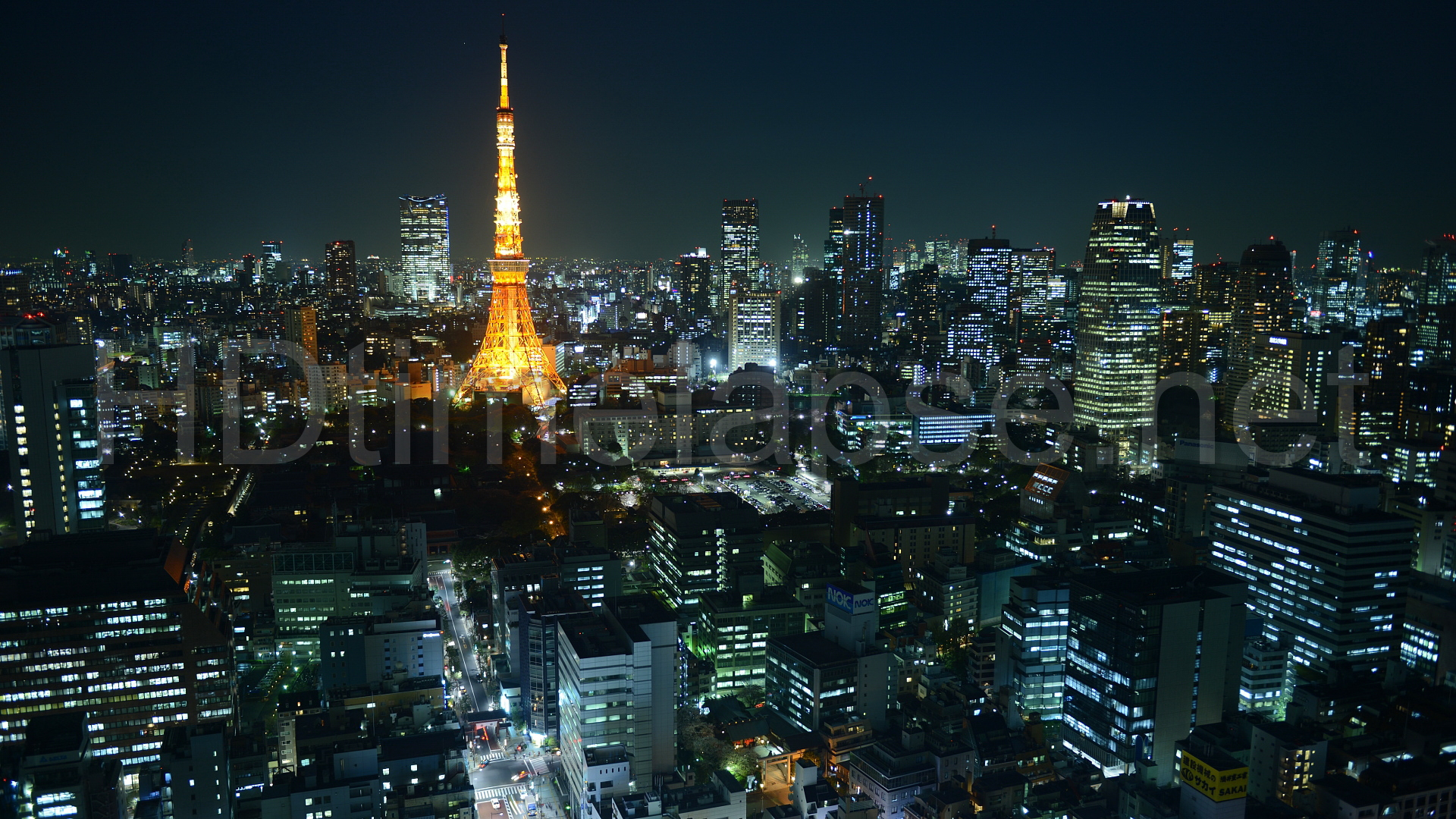 Ultra HD 4K Video Time Lapse Stock Footage   Aerial Cityscape of Tokyo 1920x1080