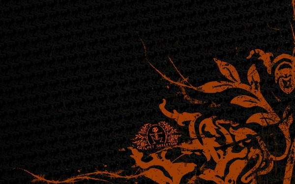 black artistic orange patterns Orange Wallpapers Desktop 600x375
