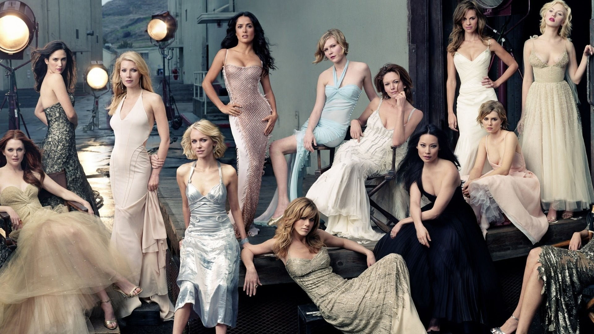 Women actress Jennifer Aniston Salma Hayek HD wallpaper 1920x1080