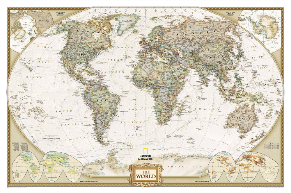 P1021 Most Accurate World Map Wallpaper Poster Wall Art for Home Decor 1000x664