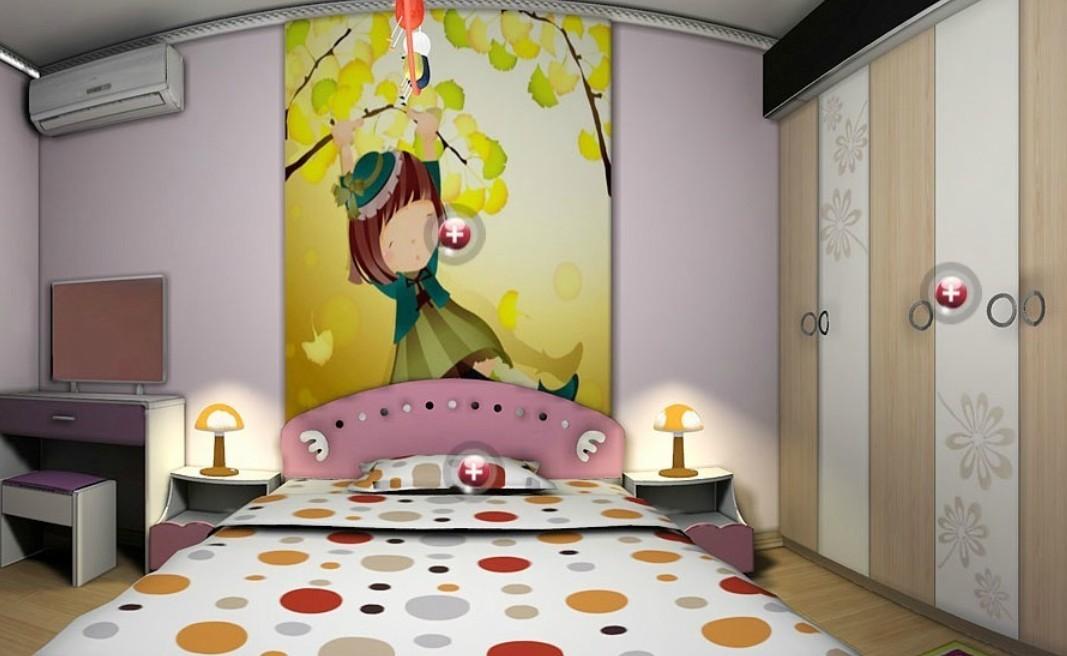 Cartoon wallpaper for children bedroom Download 3D House 1067x656