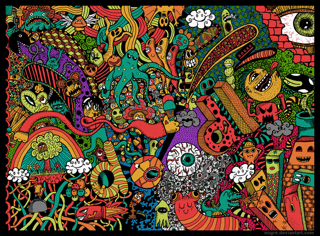 50 doodle art wallpapers on wallpapersafari - Doodle desktop wallpaper ...