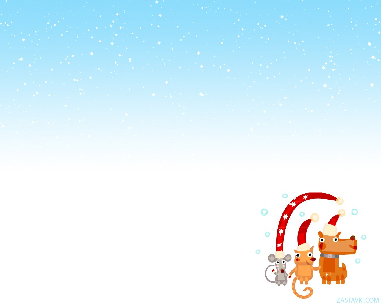Download animated Christmas background for MySpace 1280x1024