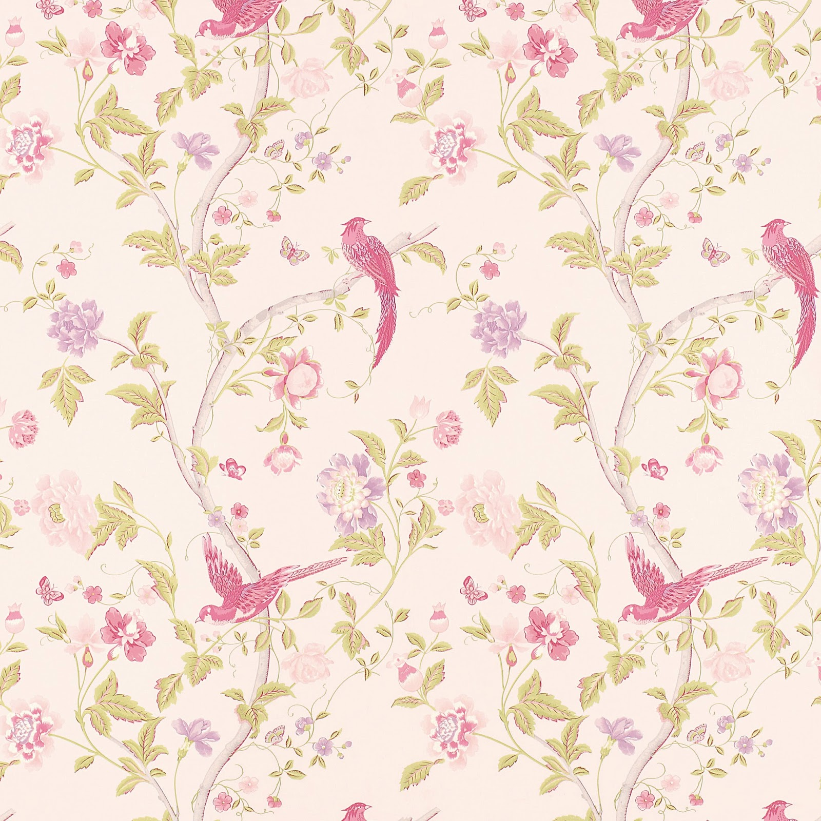 Free Download Floral Wallpaper Vintage Floral Wallpaper Pink