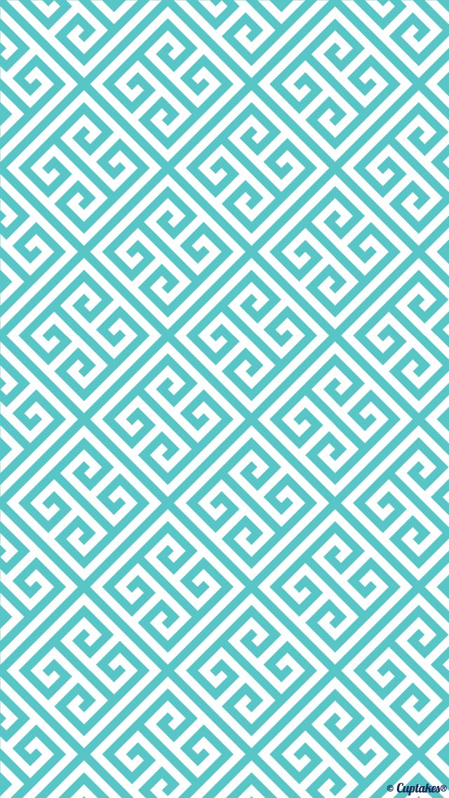 blue wallpaper Phone Backgrounds Pinterest Aztec Greek Key 640x1136