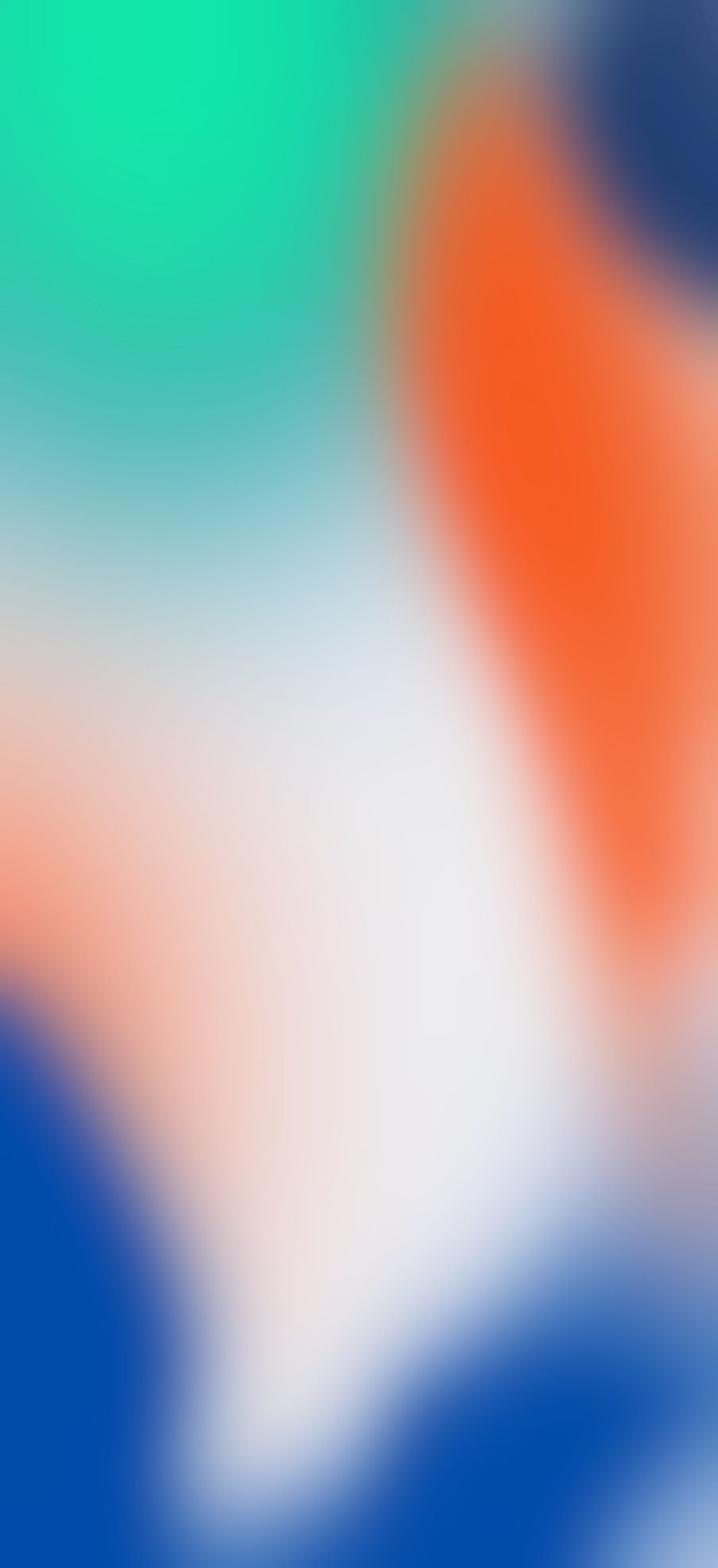 iOS 11 iPhone X orange green blue Stock abstract apple 904x1976