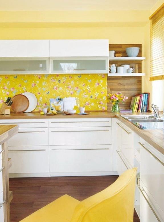 Yellow Kitchen Wallpaper   WallpaperSafari