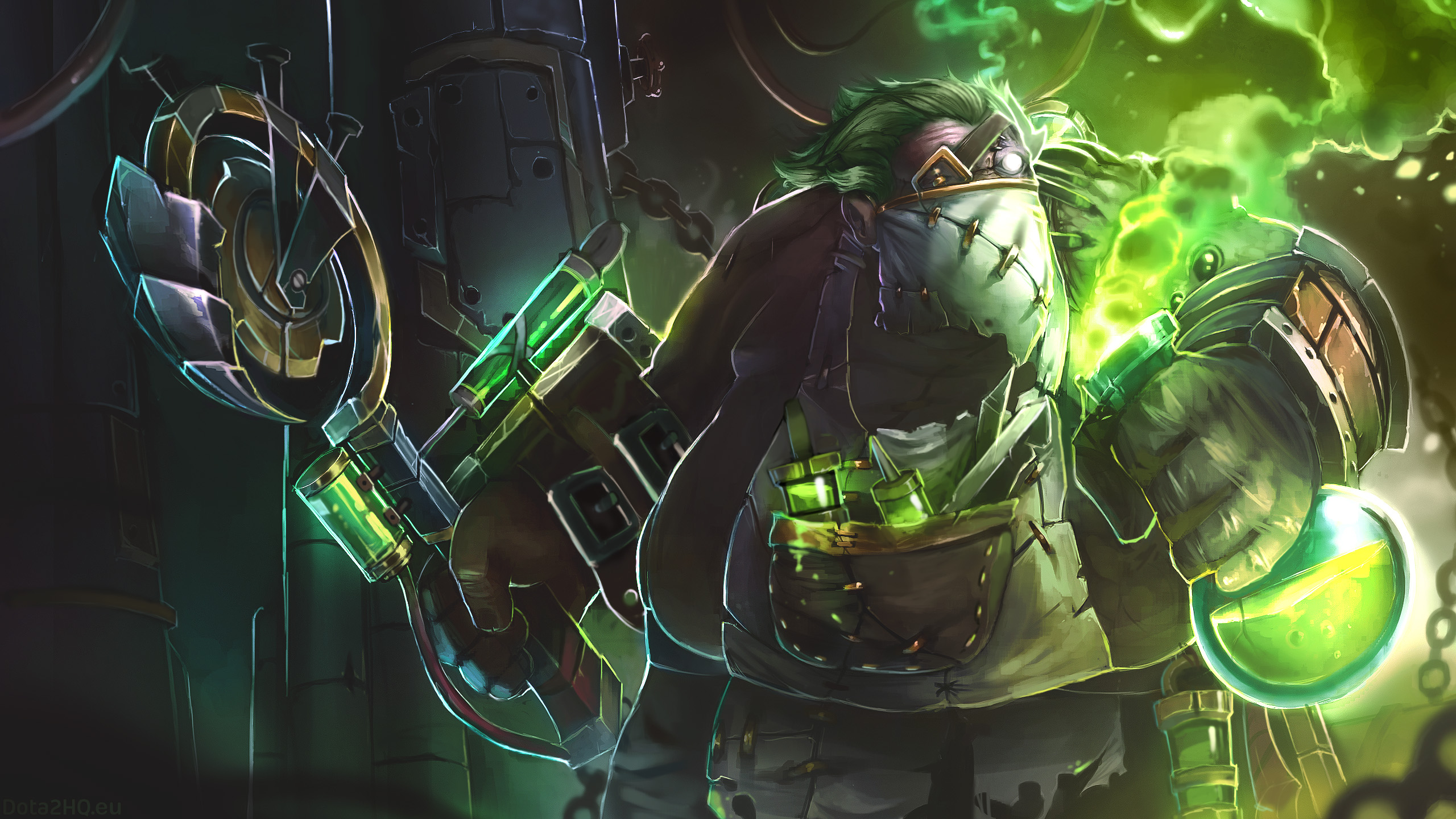 Pudge The Plague Doctor   DOTA 2 Wallpapers 2560x1440