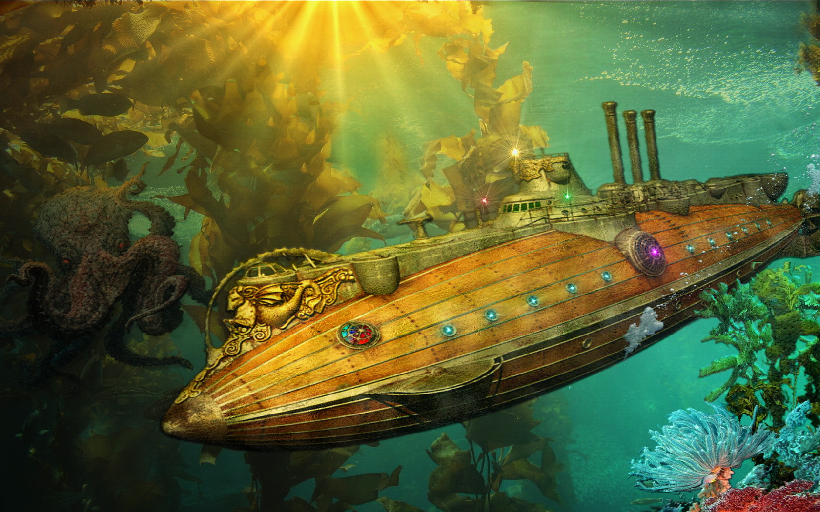 Posted October 29 2011 in Cool Creative Fiction Submarine 1680x1050