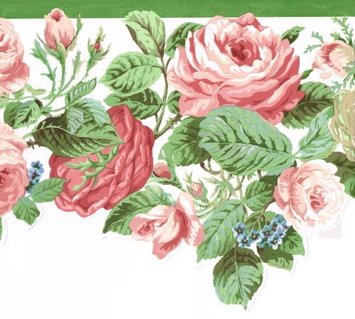 Die Cut Beautiful Pink Red Roses 10 1 4 Wallpaper Border Wall eBay 500x449