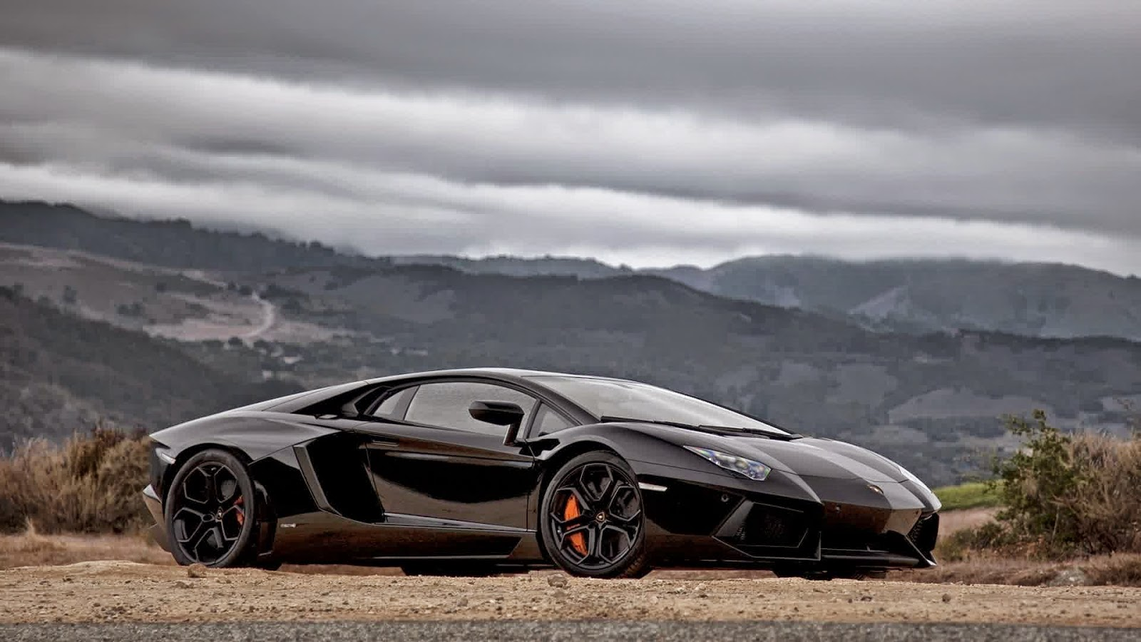 Black Lamborghini Aventador Wallpapers On the Mountain   Mas Yadi 1600x900