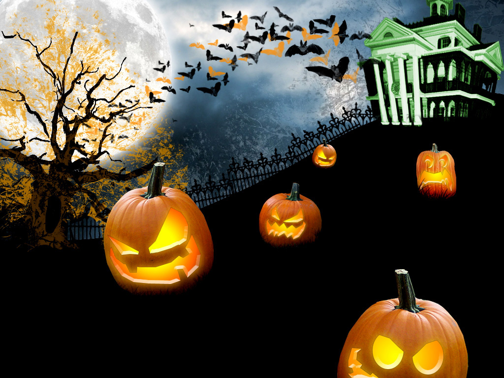 Halloween desktop wallpaper 3 1024x768