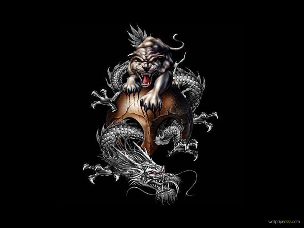 Download China Dragon And Tiger Wallpaper Wallpaper 1024x768