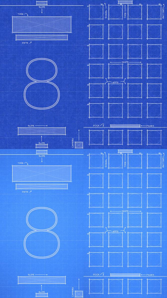 48+] iPhone 6 Blueprint Wallpaper on