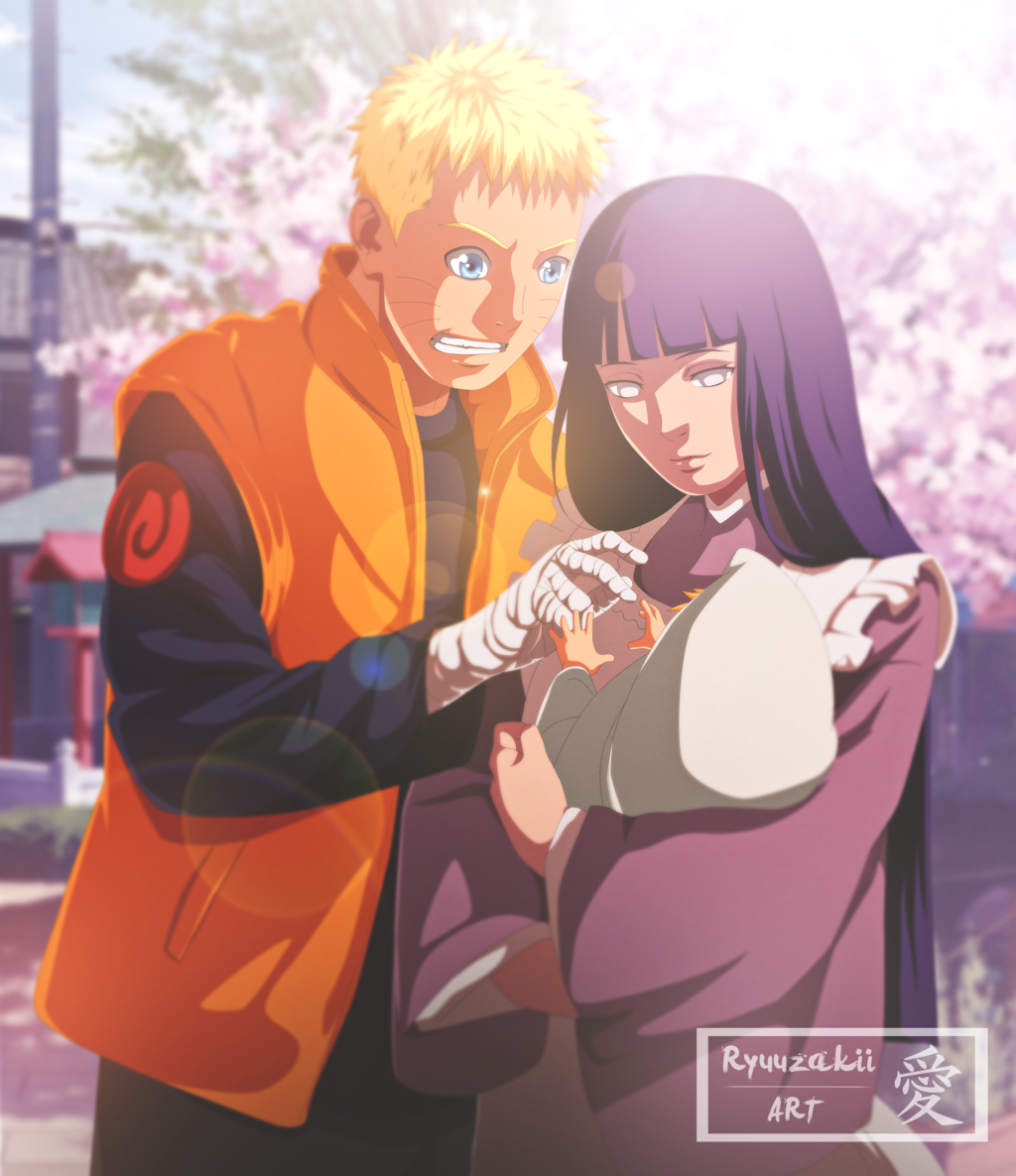 Naruto Hinata and Boruto Coloration by xRyuuzakii 1024x1185