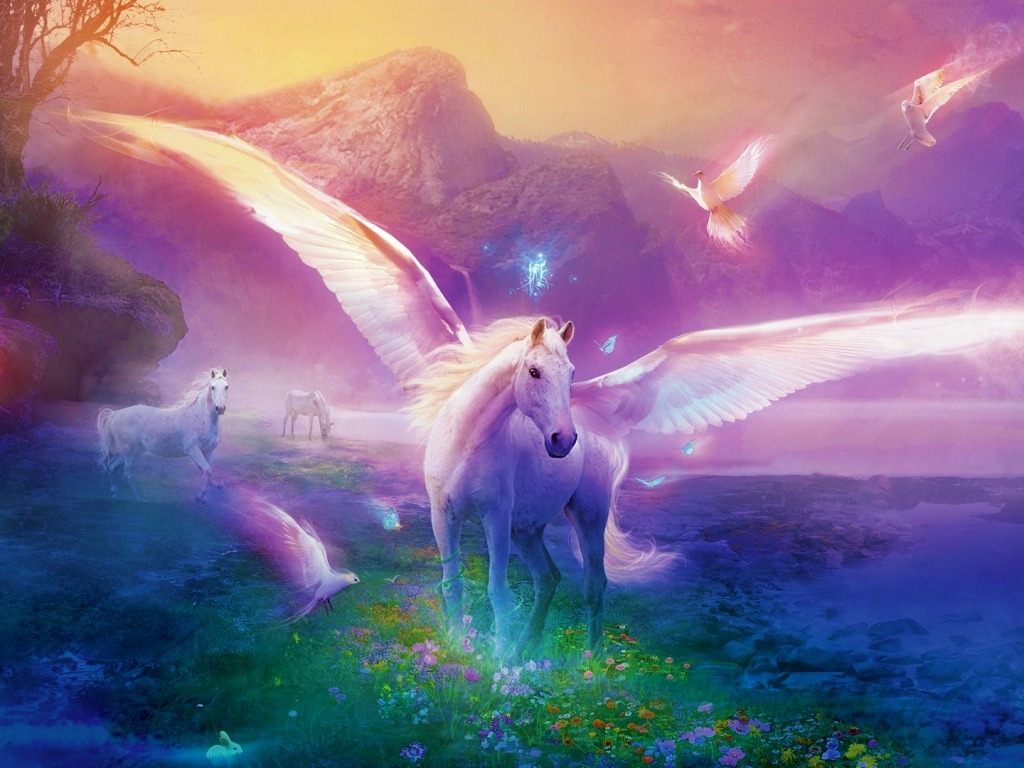 66] Fantasy Unicorn Wallpaper on WallpaperSafari 1024x768