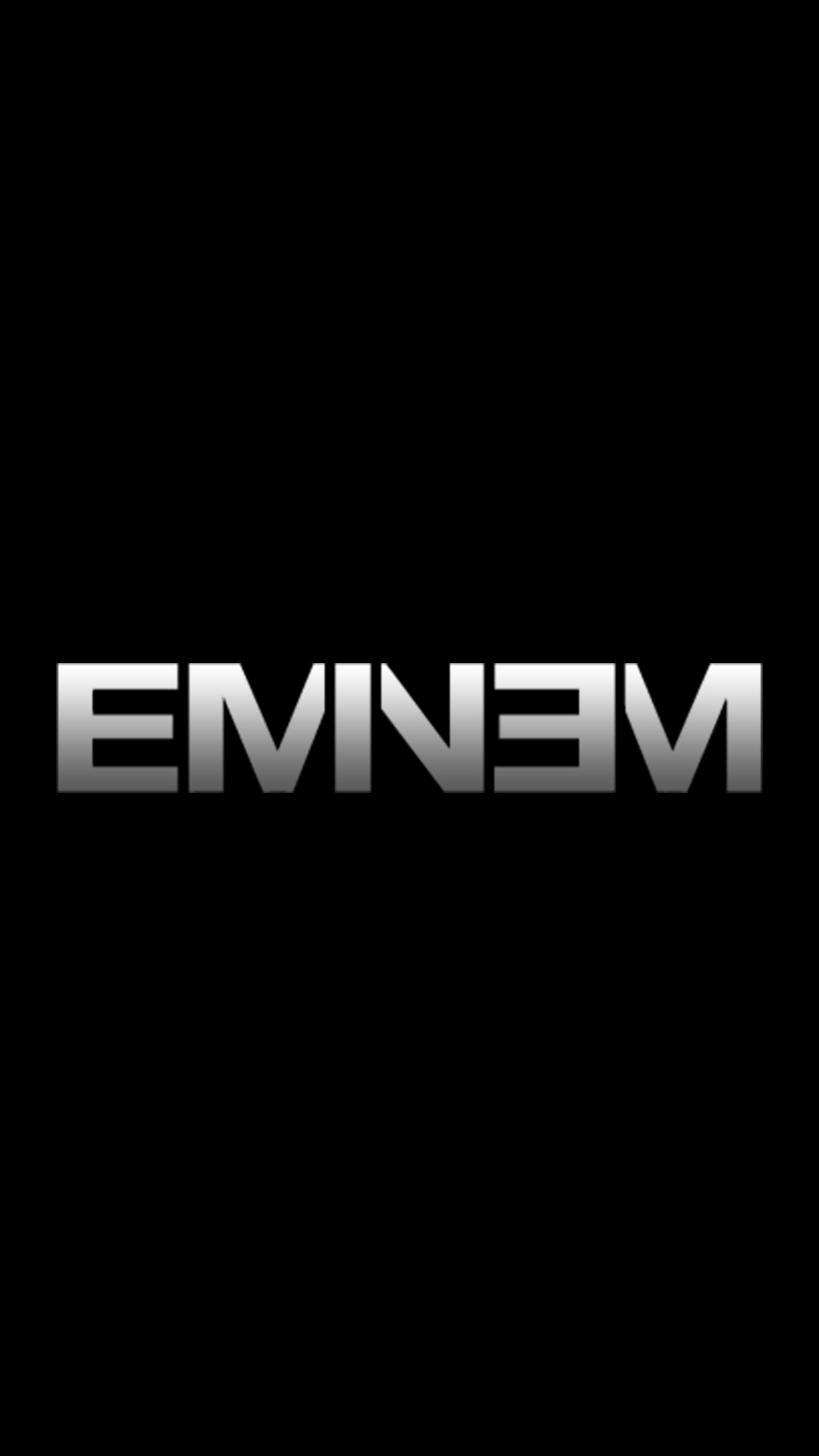 Eminem Logo AMOLED Wallpaper [1440x2560] Eminem 1440x2560