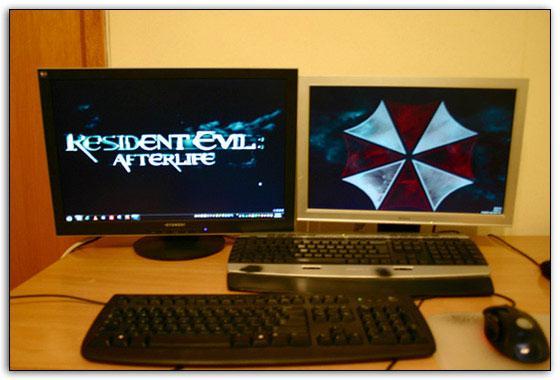 How to setup dual monitors wallpaper