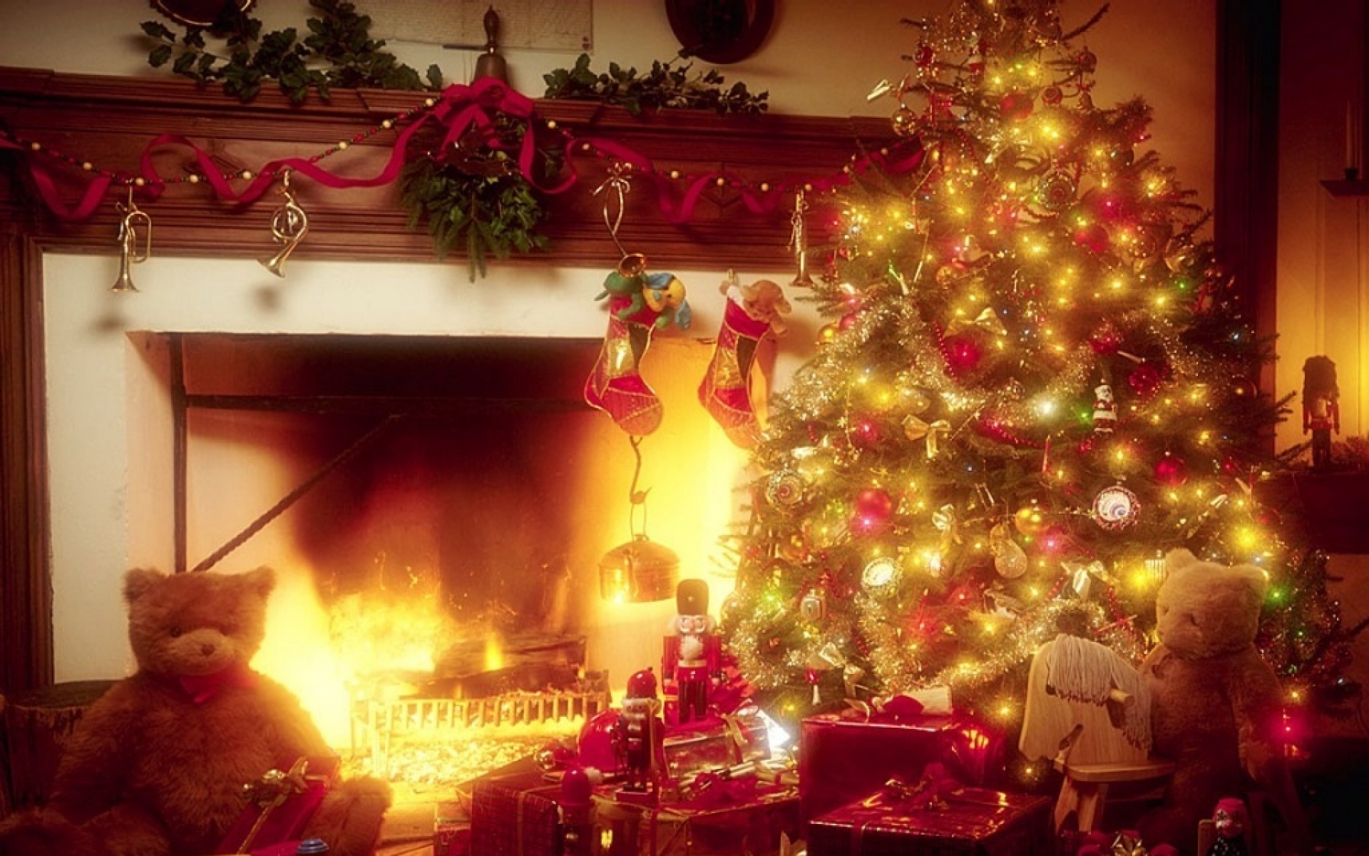 christmas fireplace fire holiday festive decorations f 1463967 1920x1200