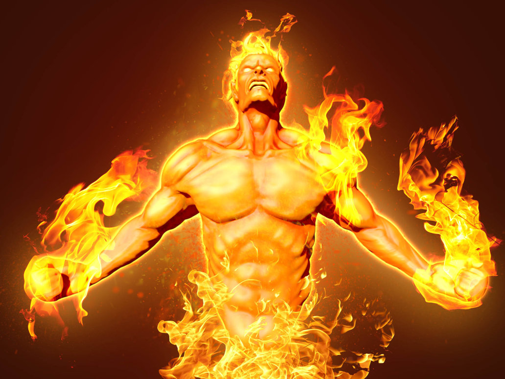 Human Torch HD Wallpaper For Your Desktop 1032x774