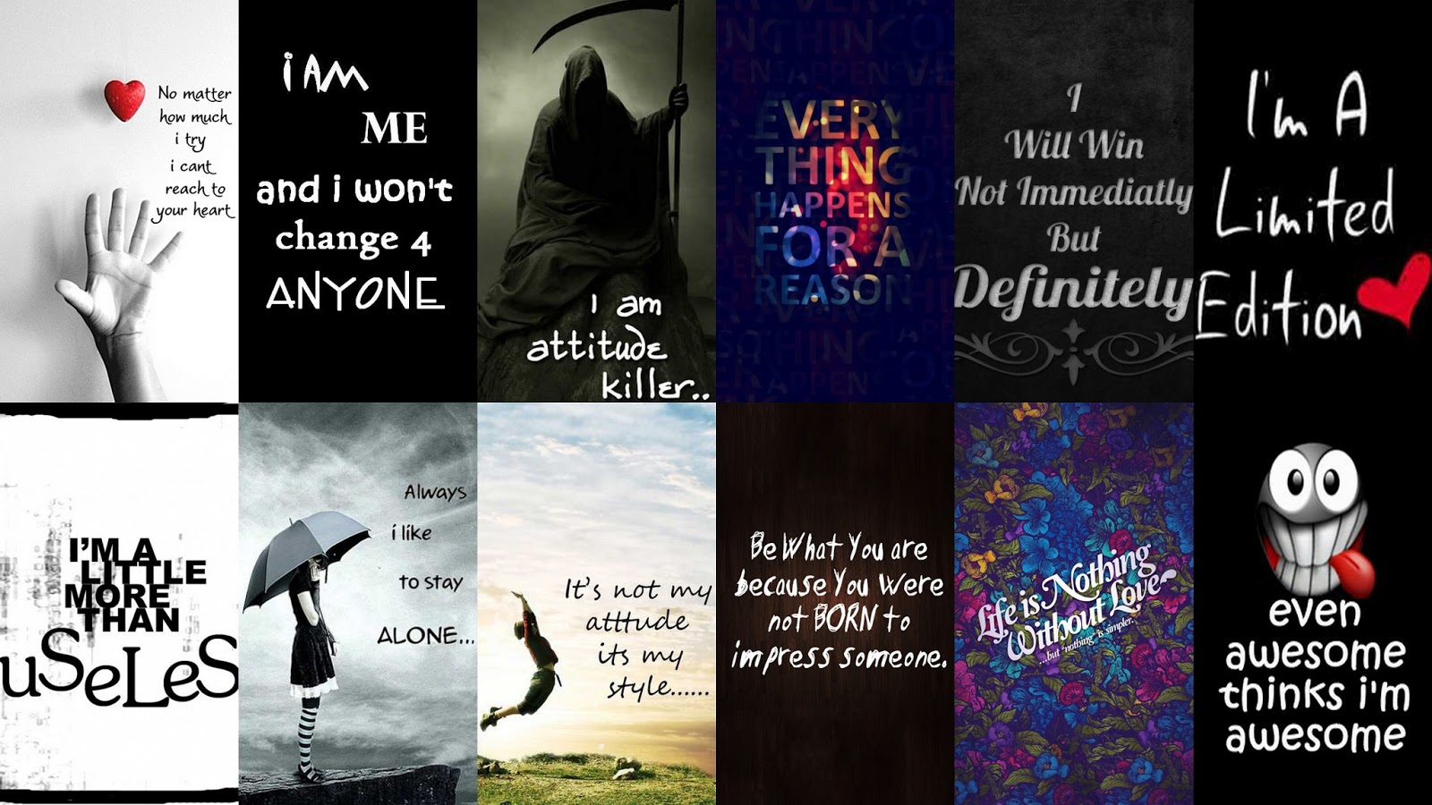 Signs Sayings Wallpapers Pack Pack Contains 80 HD Pics   Wallpaper 1600x900