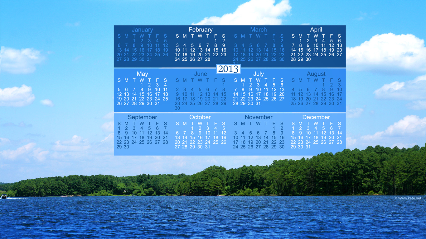Full Year Calendar Wallpapers Yearly Calendar Backgrounds by Katenet 1366x768
