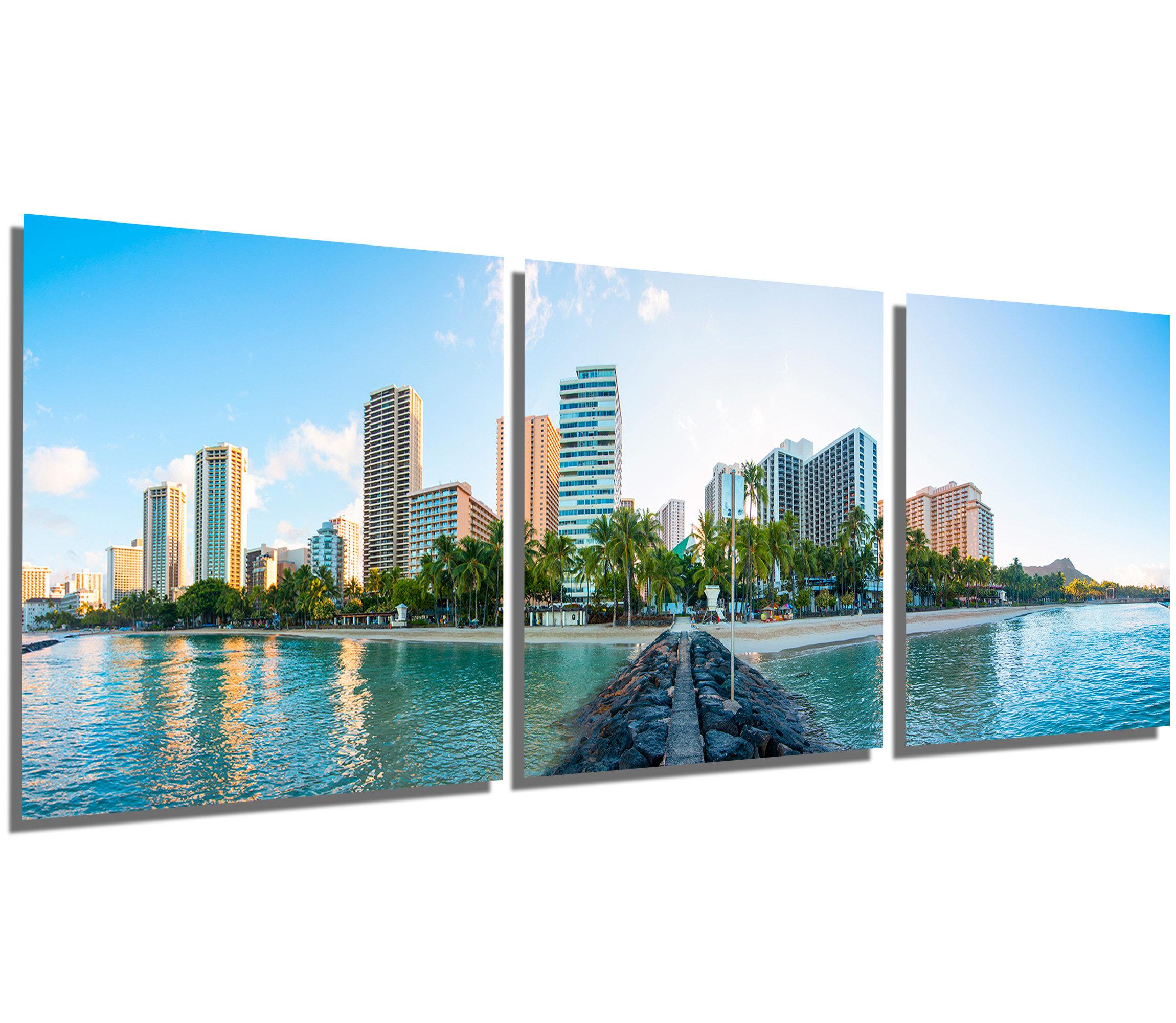 Metal Print Waikiki Hawaii Skyline skyline wall art 3 Etsy 2300x2000