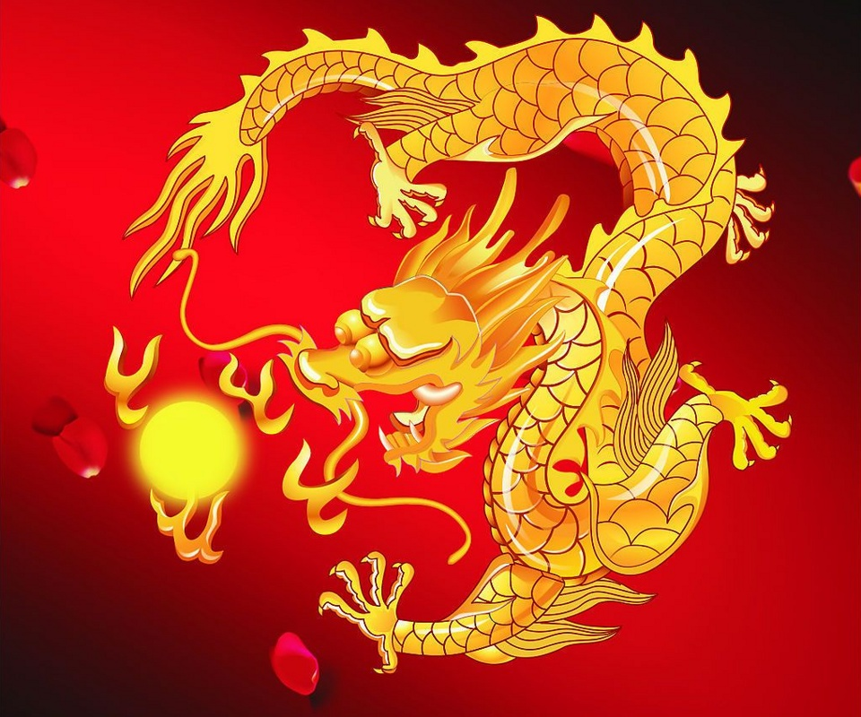 red chinese dragon wallpaper - photo #14