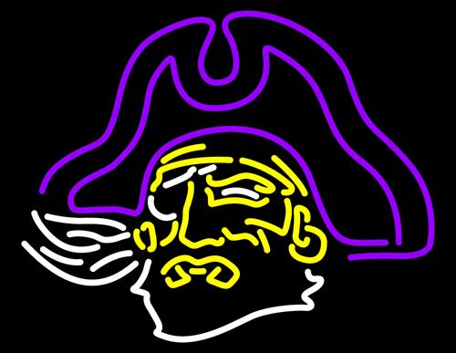East Carolina Pirates Neon Sign University Neon Sign 500x387