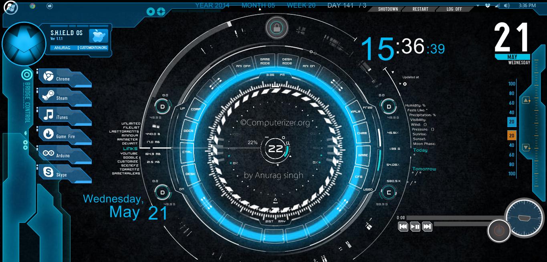 Rainmeter jarvis theme download
