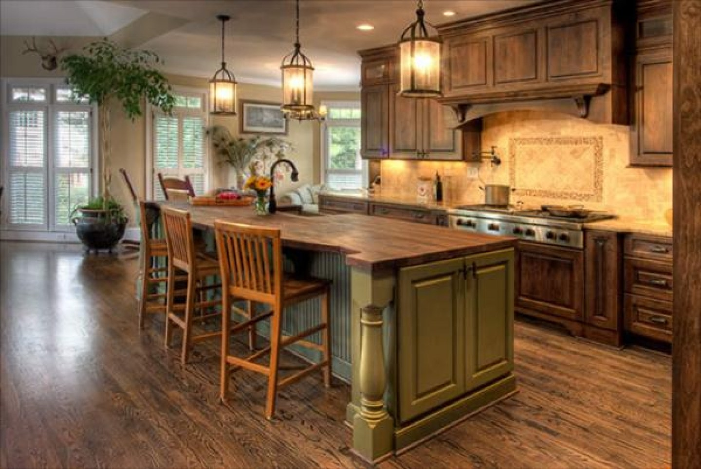 Rustic Small Kitchen Design Ideas Small Kitchen Designs With Islands 1440x964