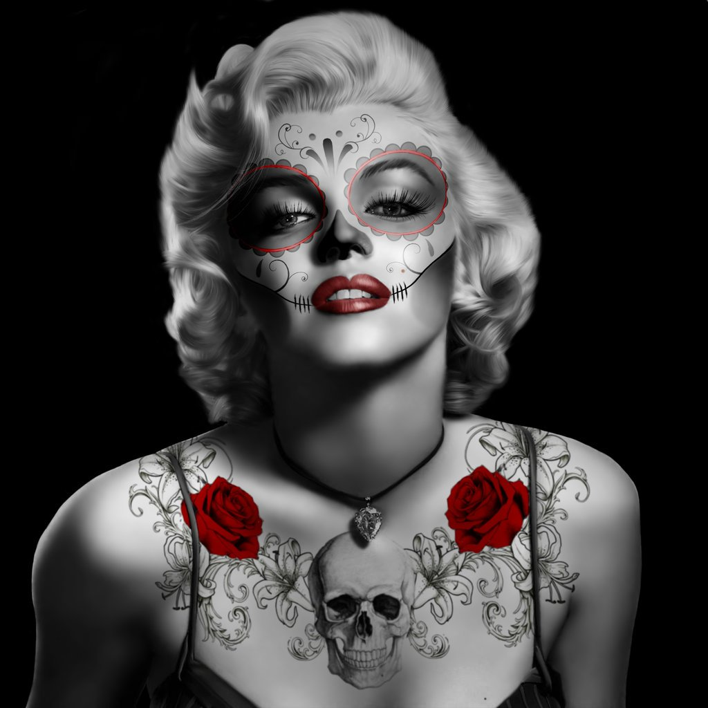 Day Of The Dead Marilyn Monroe By Angel1592 1024x1024