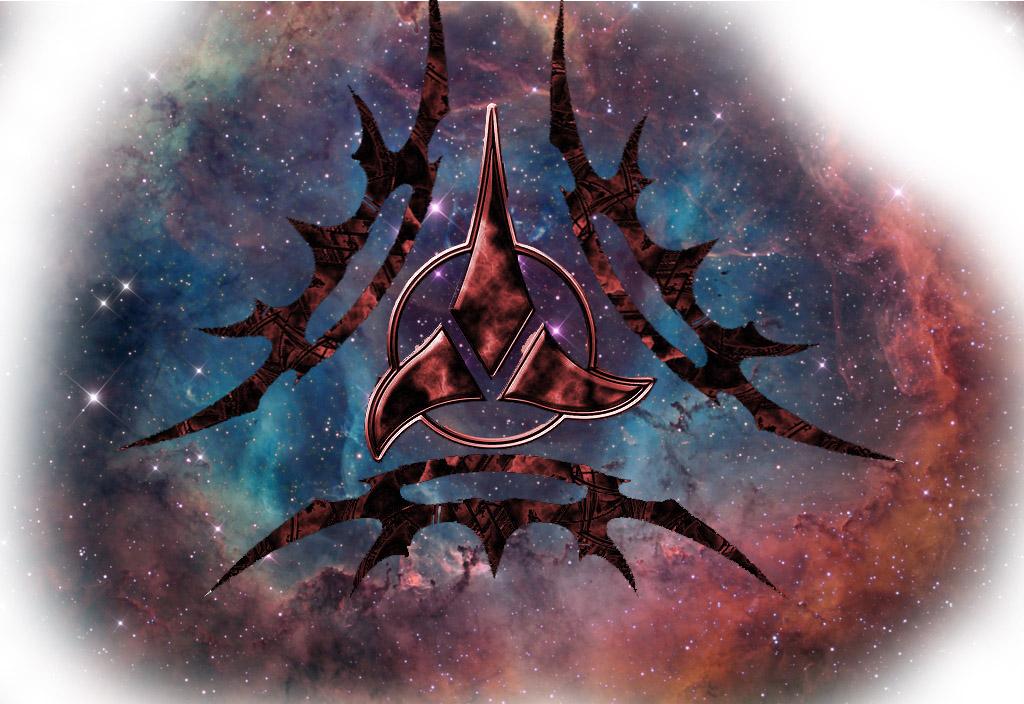 klingon symbol wallpaper wallpapersafari